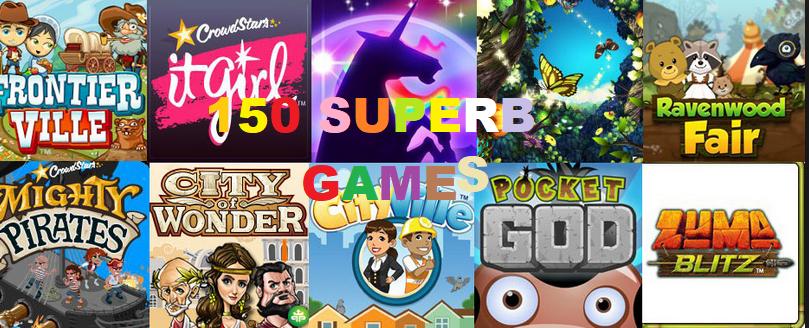 Top 150 Trending Facebook Games