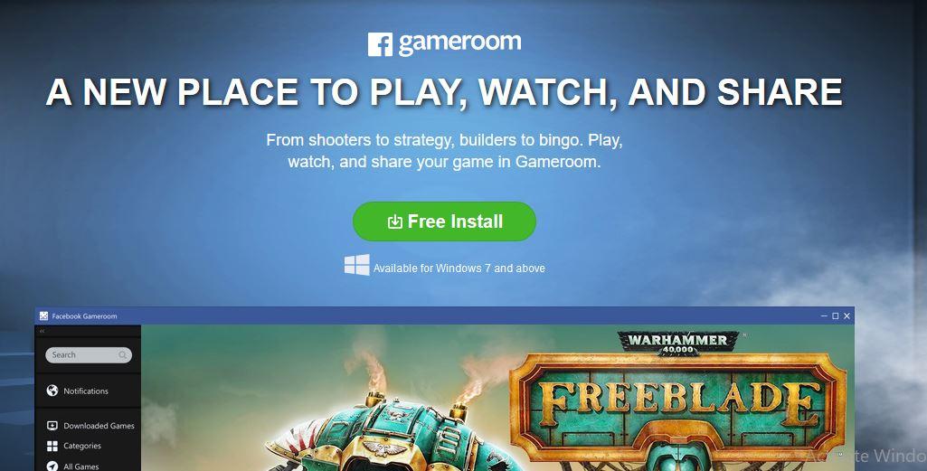 Facebook Gameroom Install