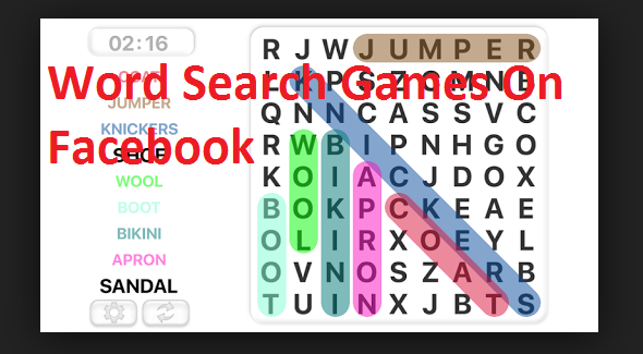Word Search Games on Facebook