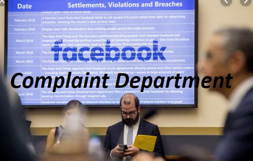 Facebook Complaint Department