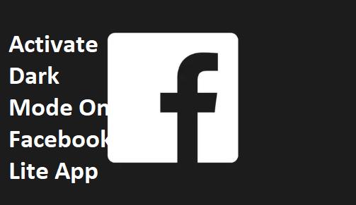 Facebook Lite Dark Mode