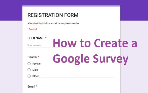 How To Google Survey