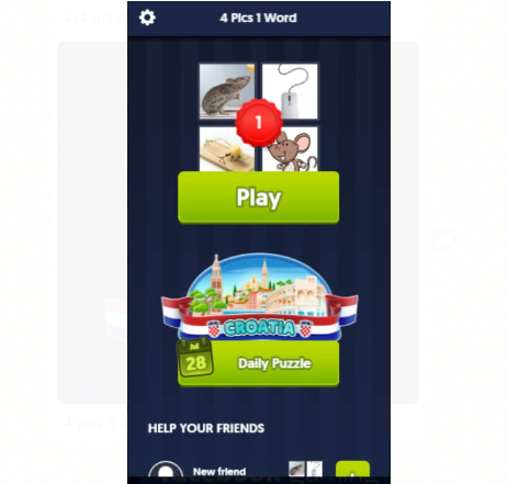 How To Answer The Puzzle Of 4 Pics 1 Word Online Facebook Game