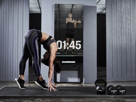 Smart Mirror Designed To Deliver Guided Workouts Is Now Made Available By Carbon's Trainer