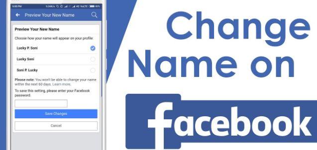 Facebook Profile Name Change