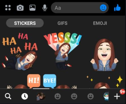 Facebook Avatar Stickers Of Different Types