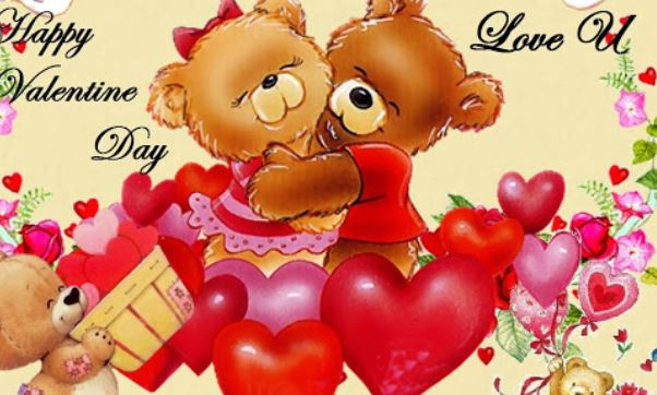 Facebook Valentine Avatar Cartoon Wishes